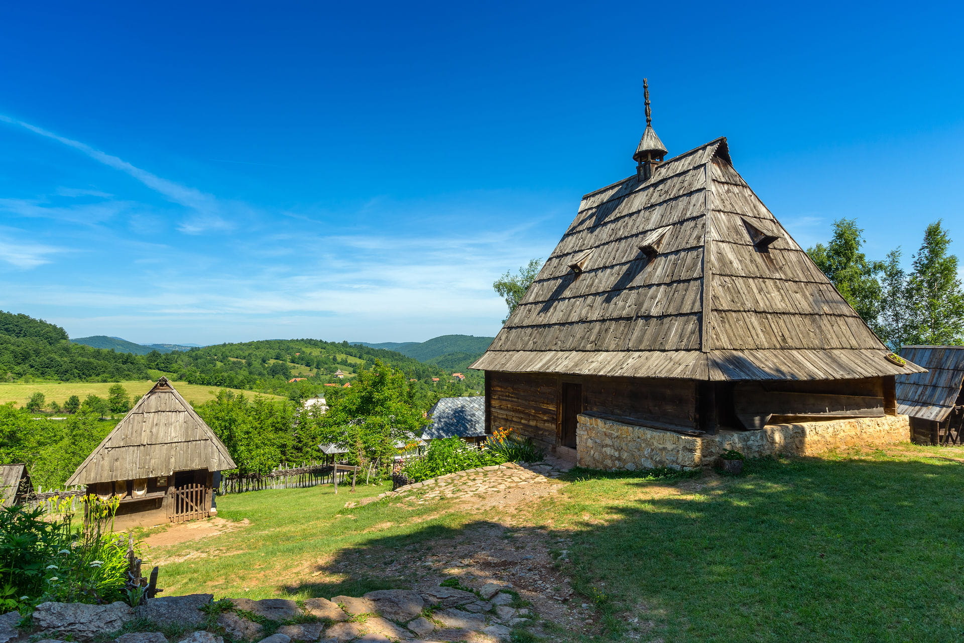 High quality hoto of Ethno Village Sirogojno - Serbia