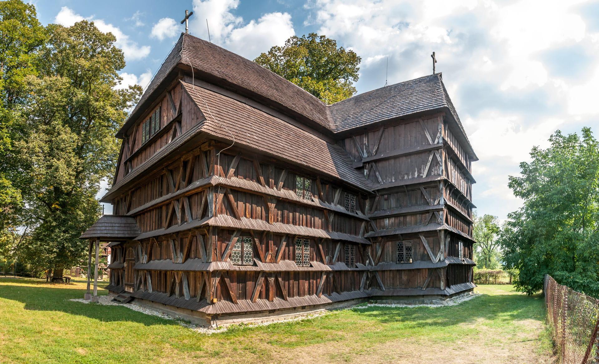High quality hoto of Hronsek Wooden Church - Slovakia