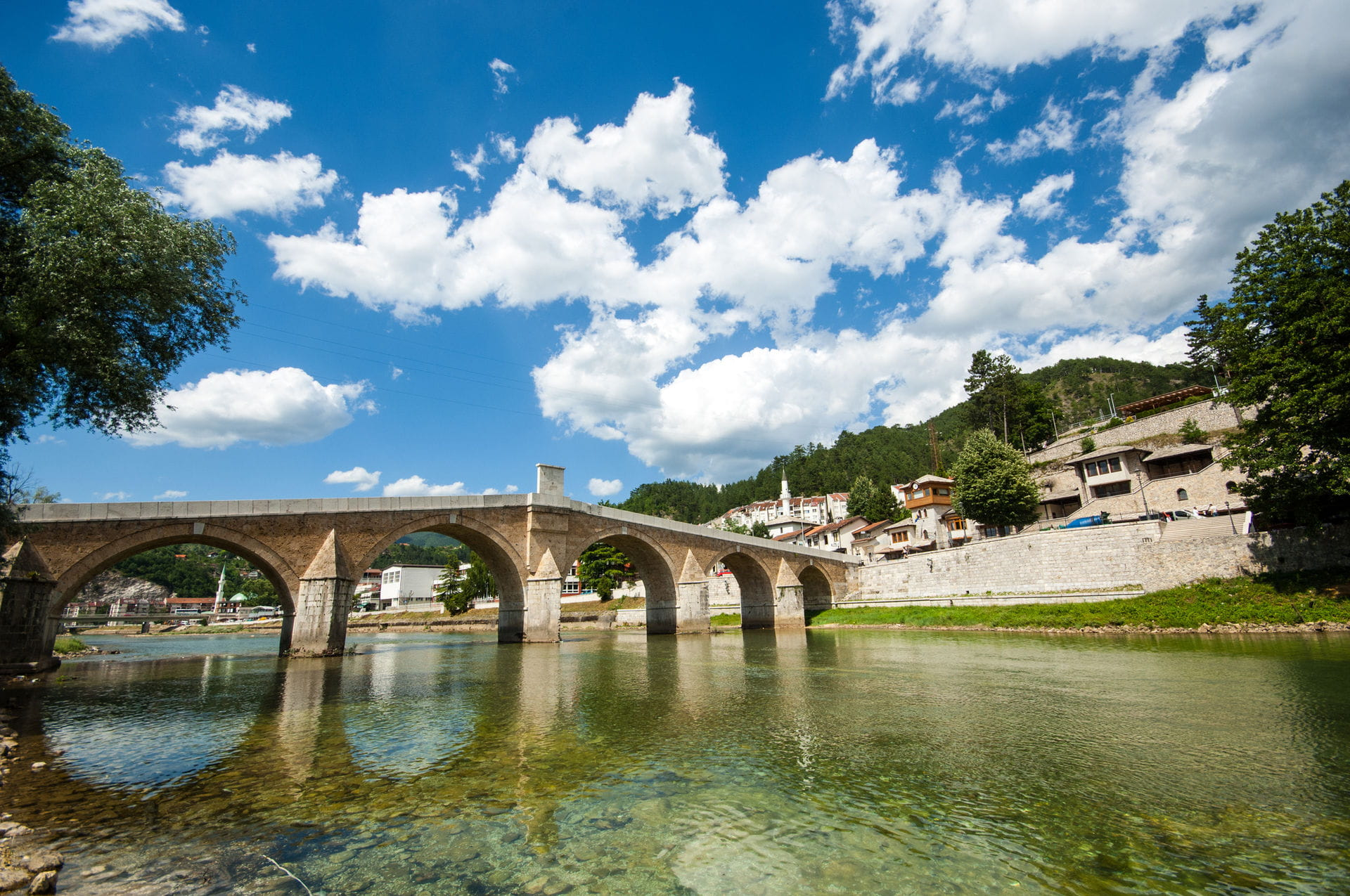 High quality hoto of Konjic Bridge - Bosnia and Herzegovina