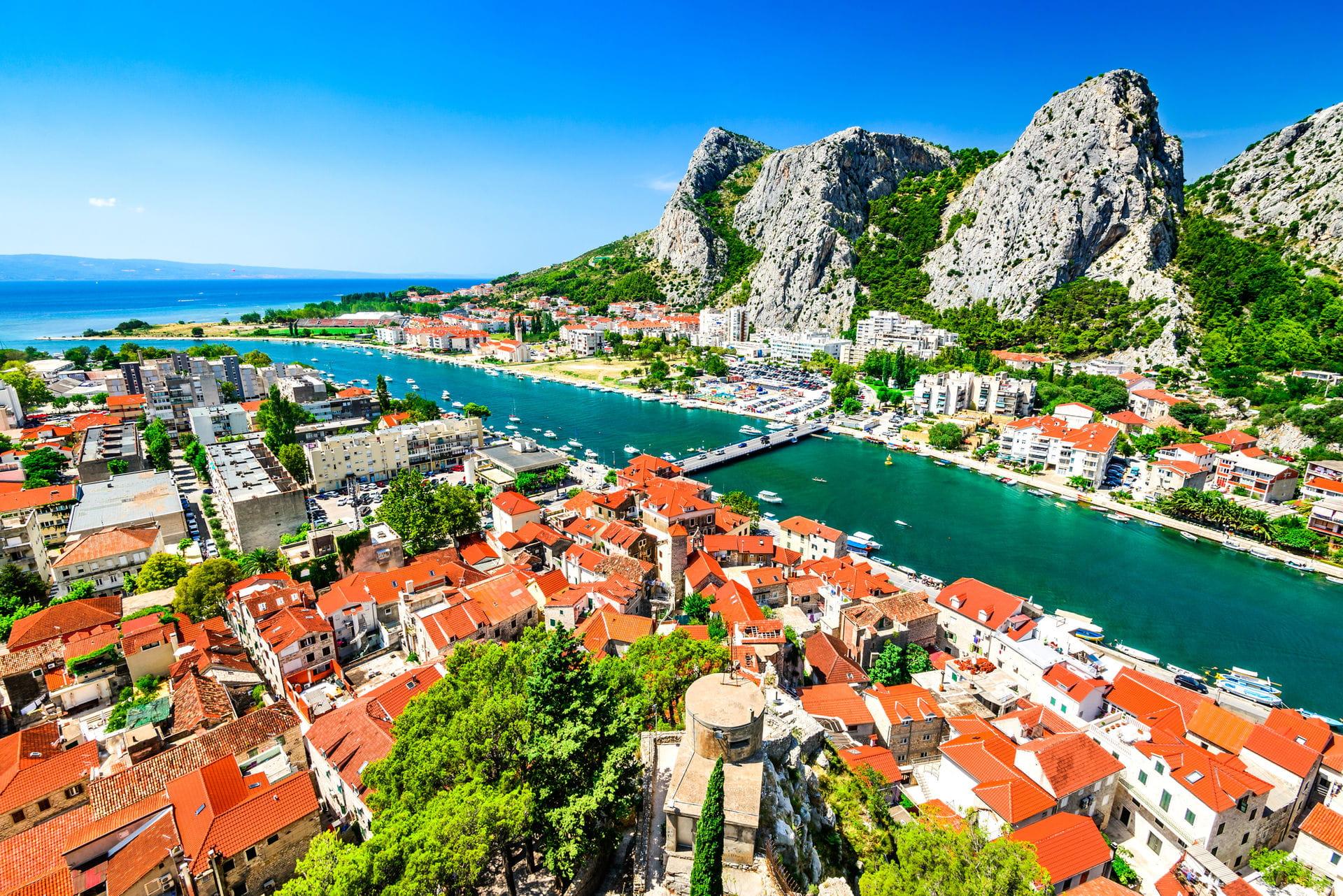 High quality hoto of Omis - Croatia