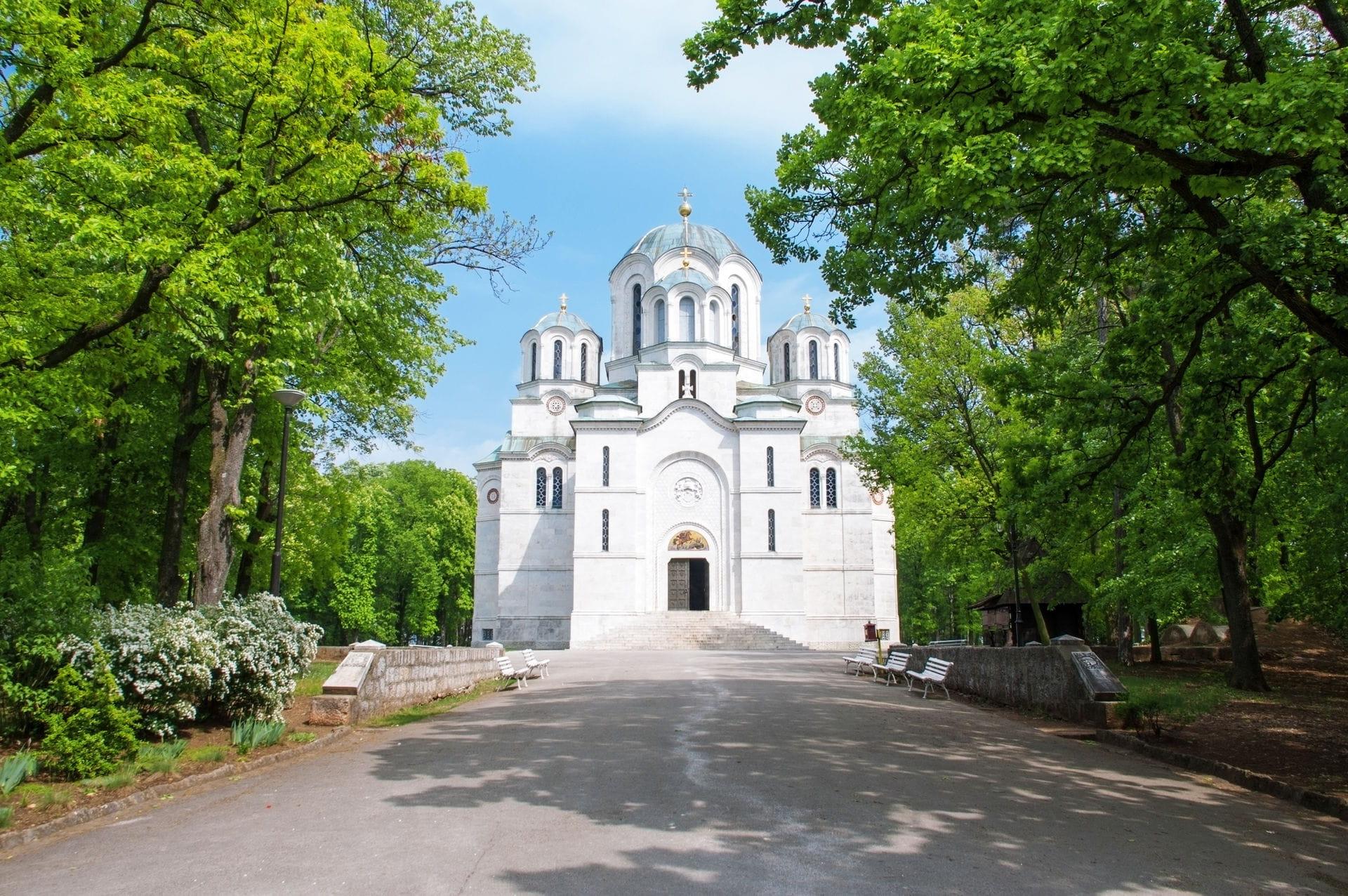 High quality hoto of Oplenac Church - Serbia