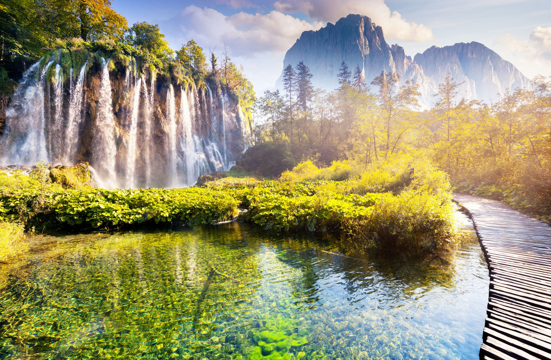 High quality hoto of Plitvice Lakes National Park - Croatia