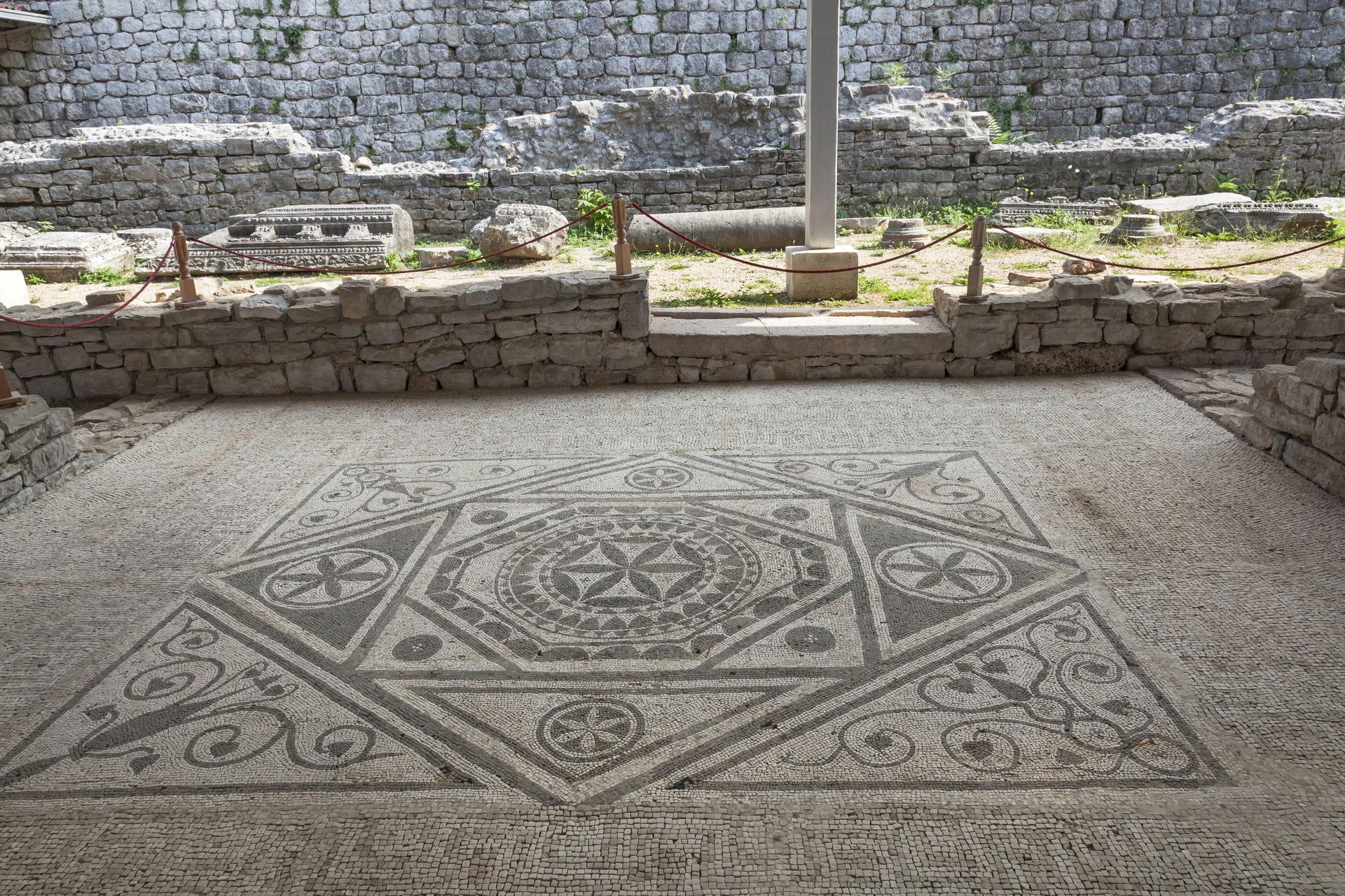 High quality hoto of Risan Mosaic - Montenegro