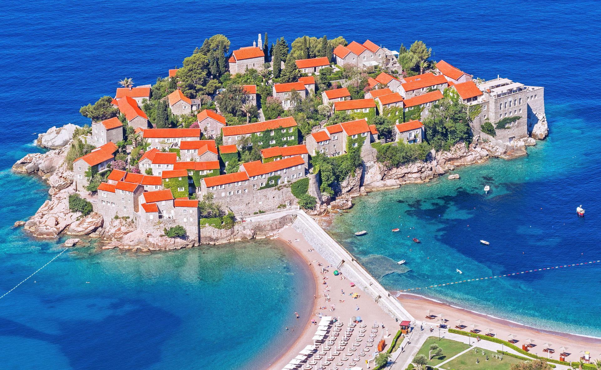 High quality hoto of Sveti Stefan - Montenegro