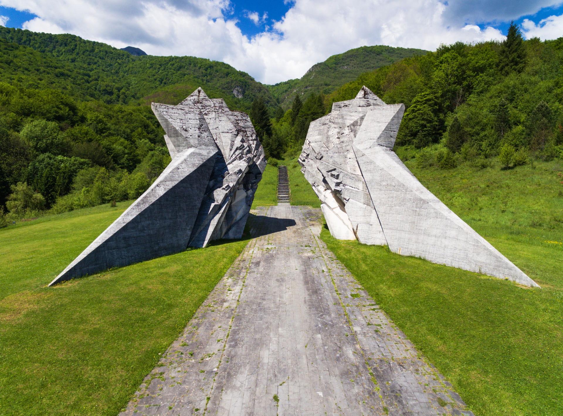 High quality hoto of Tjentiste War Memorial - Bosnia and Herzegovina
