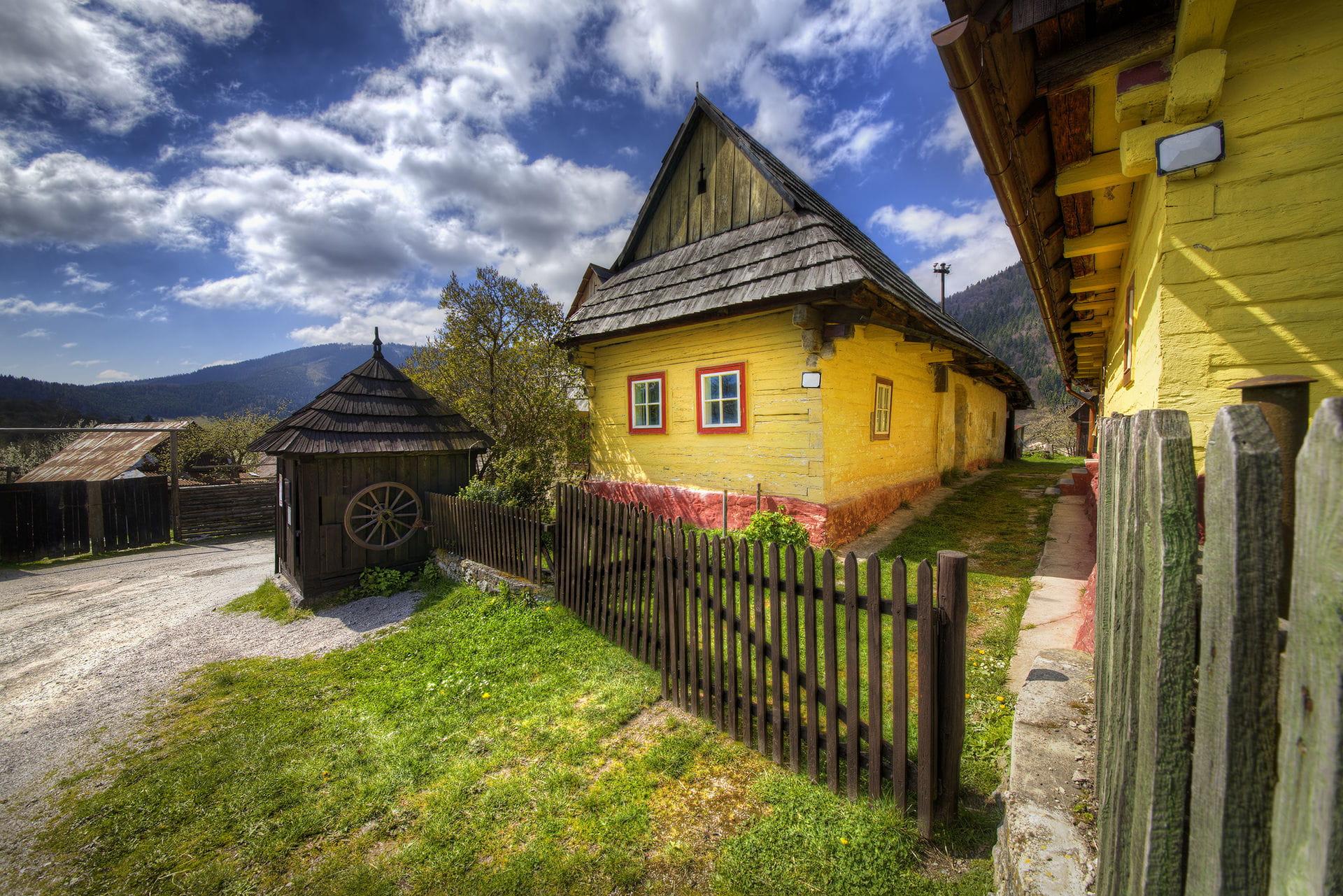 High quality hoto of Vlkolinec Village - Slovakia