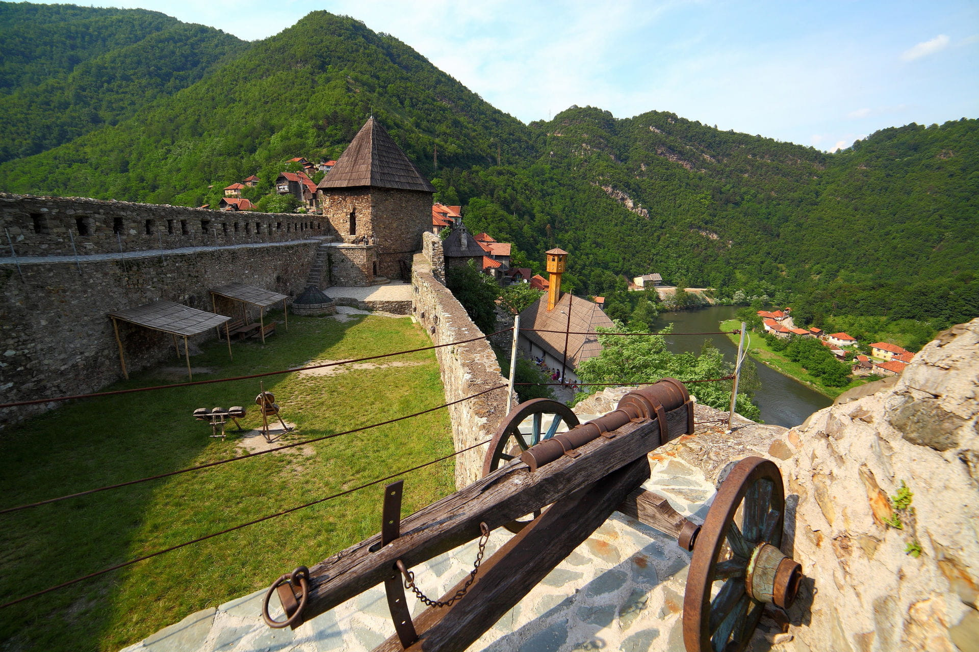 High quality hoto of Vranduk Fortress - Bosnia and Herzegovina